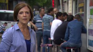 Challenging times: Sue Lloyd-Roberts reporting from Turkey