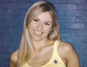 Childs' play: Zoe Salmon during her early days as a presenter on BBC's Blue Peter