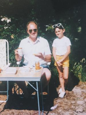Aly with her late father