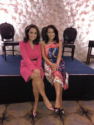 Sister act: Anita with her sibling Donna at a recent fashion event they hosted in Belfast