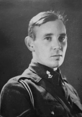 Gilbert during the war, and as a young boy. (Courtesy of the Gilbert family)