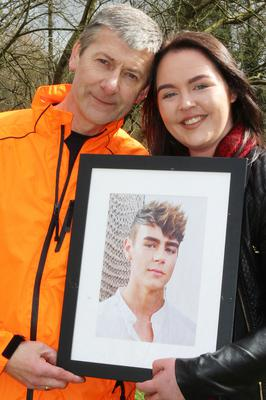 Yasmin with her uncle, Kevin Mailey, who is running the Belfast Marathon