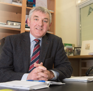 Thomas Buchanan of the DUP at his constituency office