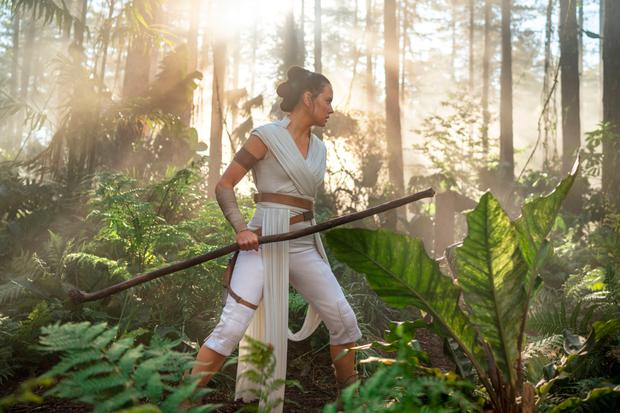 Daisy Ridley in scenes from Star Wars: The Rise of Skywalker