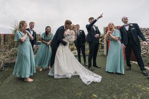 Matthew and Bronte with their bridesmaids and groomsmen