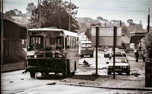 The bus Arlene foster was travelling on when an IRA bomb detonated. June 28th 1988