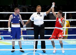 Paddy's Olympic fight with Samuel Carmona Heredia of Spain