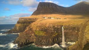 Some of the landscape of the Faroe Islands, where there are more sheep than people