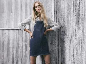 Pinafore, £22.99, sweater, £9.99, both from New Look