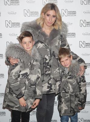 Growing family: Stacey Solomon with sons Zachary and Leighton