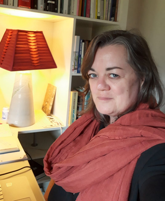 Write approach: Louise Kennedy at home where she is currently writing her debut novel