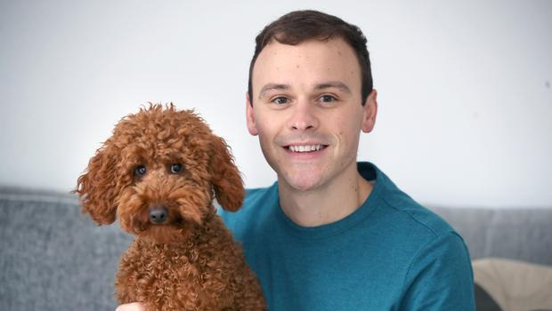 Best friends: Cool FM DJ Paulo Ross with his dog Olly