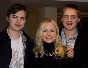Frances with her sons Luke (left) and Finn