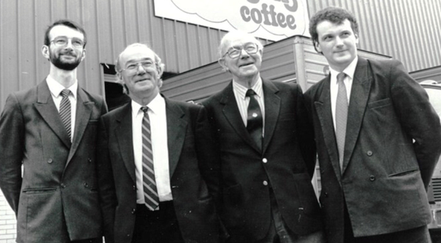 Rich history: Dermot, Michael, Dermot Snr and Andy Johnson