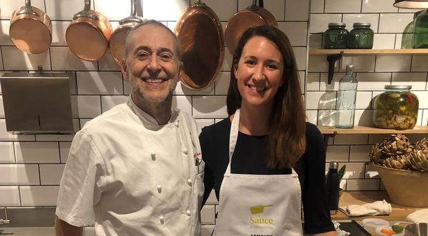 Classic cooking: Michel Roux Jnr and writer Lauren Taylor