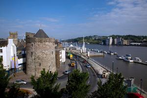 The waterfront at Waterford city