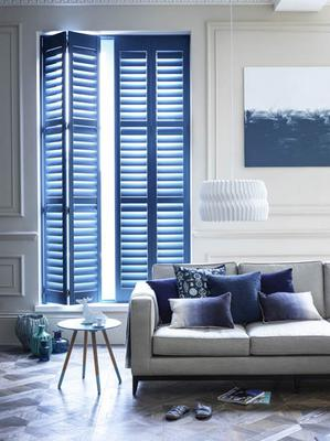 Blue louvred shutters, Shutterly Fabulous
