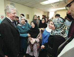 First Minister Peter Robinson at Belfast Islamic Centre