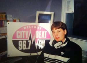 Stuart working at Citybeat in the 1990s
