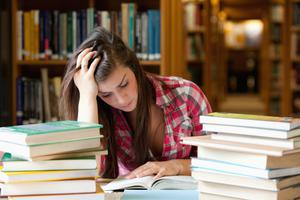 Under pressure: exams can be a source of great difficulty for many teenagers