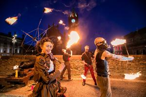 Halloween festivities in Londonderry in recent times