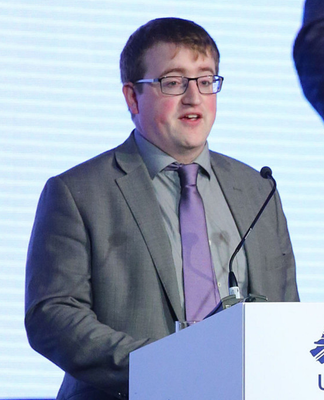 Nicholas addressing the Ulster Unionist Party conference in Belfast in 2016