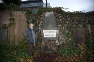 Remembering the past: Fergus Whelan at the grave of William Drennan