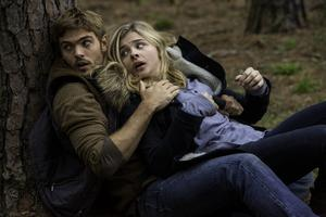 Action star: Chloe with Alex Roe in the The 5th Wave