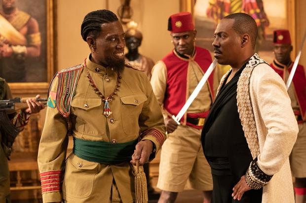Stirring the pot: actors Wesley Snipes and Eddie Murphy in Coming 2 America