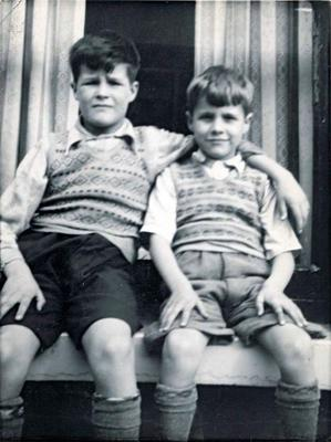 A childhood photo of brothers John and George Larmour