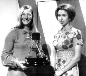 The young Princess Royal with Mary Peters in 1972