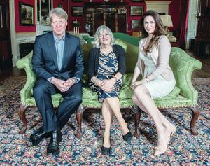 New chapter: Ann Widdecombe with Earl Spencer and his wife Karen at last year's Althorp Literary Festival