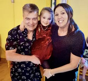 John Laverty with wife Claire McNeilly and their daughter Soley