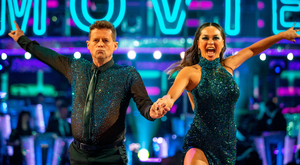Mike Bushell and Katya Jones during BBC1's Strictly Come Dancing