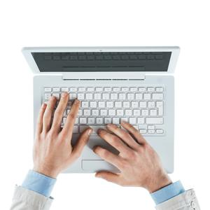 Key problem: many people regularly use laptops which can lead to pain in the hands and, right, wrists