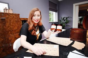 Scent of success: Angela Warren with her Vintage Moon candles
