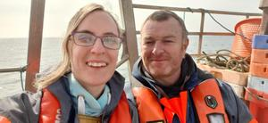 Fishing family: Brian Chambers and his wife Lenora, a classroom assistant