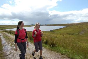 Roy Beggs did manage to walk part of the Ulster Way from Ballyboley to Cairncastle
