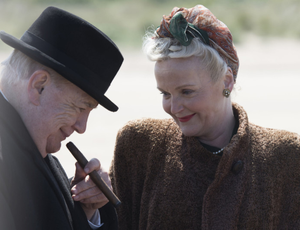 Great team: Brian Cox as Churchill with Miranda Richardson as Clementine Churchill