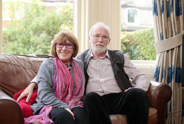 Marie with her husband, the actor and director Ian McElhinney