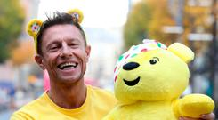 Great cause: Stephen Clements with Children in Need's Pudsey