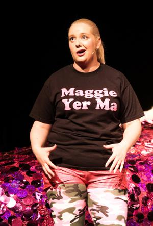On stage: Caroline performing in Maggie — Yer Ma