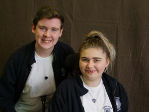 Breaking barriers: Conor Byrne and Katie Douglas have not let cerebral palsy hold them back