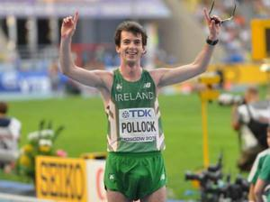 Winning way: Paul Pollock after the IAAF World Athletics Championships in Moscow