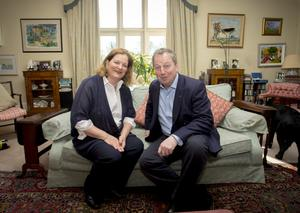Danny Kinahan and wife Anna relaxing in the drawing room