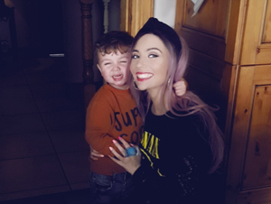 Shannon with  nephew Brodie McGahan