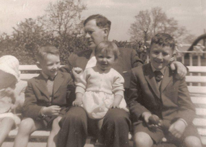 Family pictures of a young Helen with her fathe William and siblings