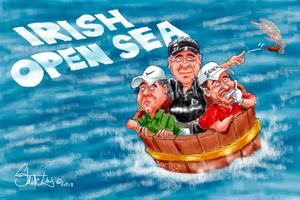 2013: It was an Irish Open to forget for NI golfers Darren Clarke, Rory McIlroy and Graeme McDowell, who failed to make the cut at the event at Carton House, Co Kildare