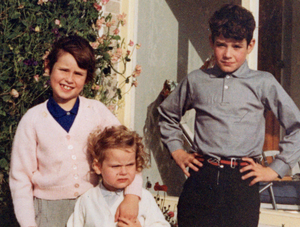 A childhood picture of Pamela Ballantine with her younger sister Susie and brother Peter