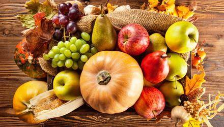 Harvest fruit and vegetables will be shared out to charities